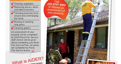 NSW RFS Assistance for Infirm, Disabled and Eldering Residents