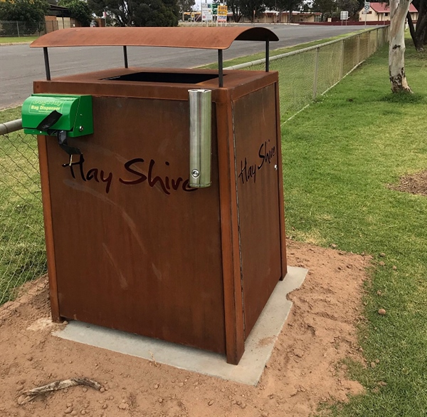 New Bin with Dog Bag Dispenser at Pocock Park