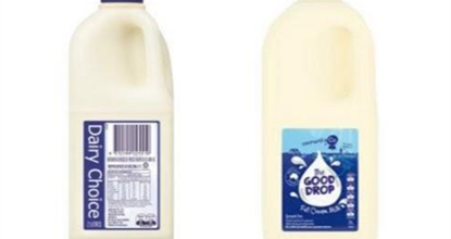 Recall: Dairy Choice Full Cream Milk and Community Co. 'The Good Drop' Full Cream Milk